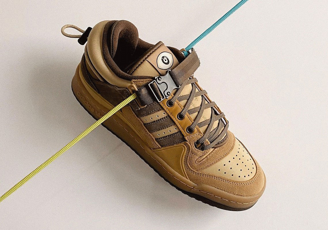 """Bad Bunny x adidas Forum Buckle Low """"The First Café"""" Earth Tone Sneakers"""